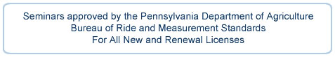 Seminars Approved by Pennsylvania Department of Agriculture